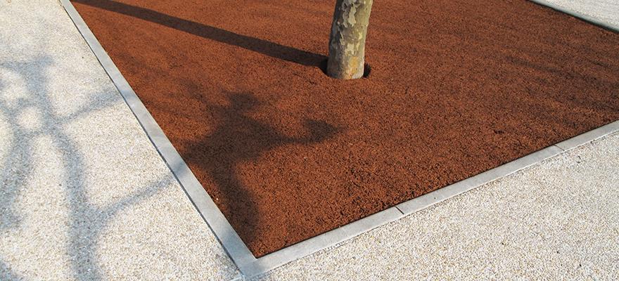 Contour d'arbre en béton AQUACIMO Drainant coloré
