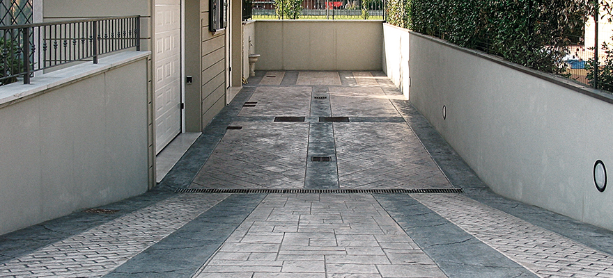 Descente de garage en béton ARTICIMO Imprimé