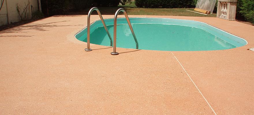 Contour de piscine en béton ARTICIMO Stabilisé