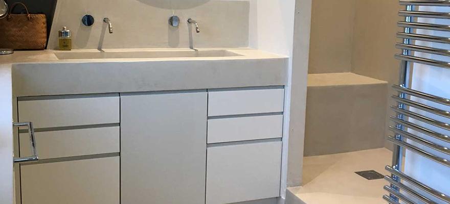 Salle de bain et évier en béton ARTICIMO Ciré