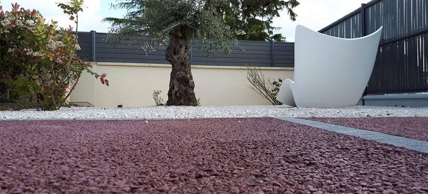 Terrasse en béton AQUACIMO Drainant Coloré